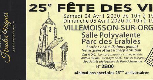 Villemoisson sur Orge 2020 postponed in June.