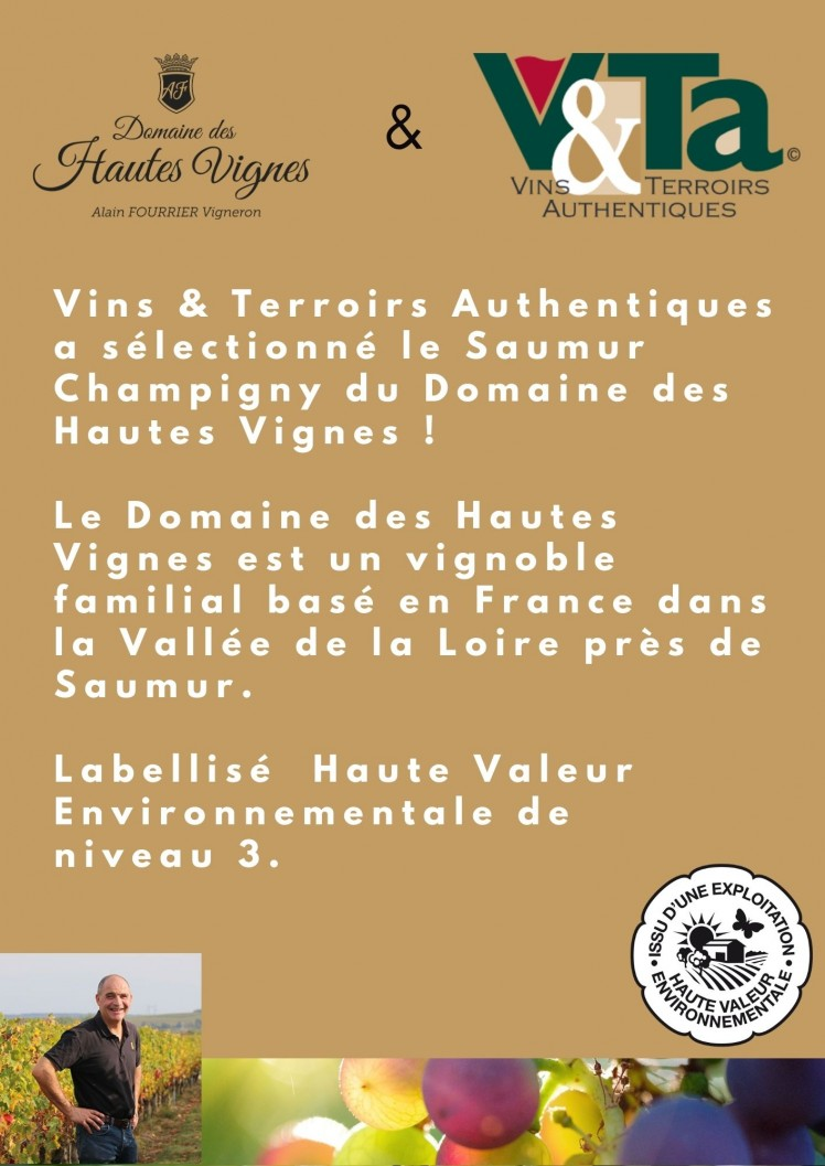 Authentic Wines & Terroirs love our Saumur Champigny