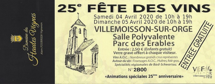 Villemoisson sur Orge 2020 Reported in June.