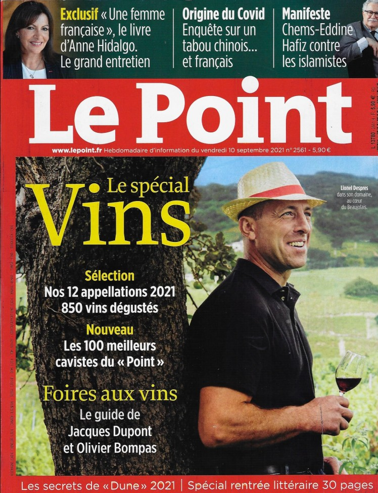 Saumur Champigny 2018 in Le Point Spécial Vins with 14/20!