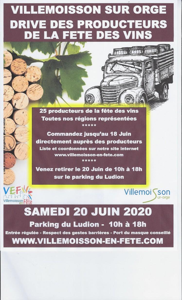 Drive Villemoisson / Orge June 20 10 am-18pm